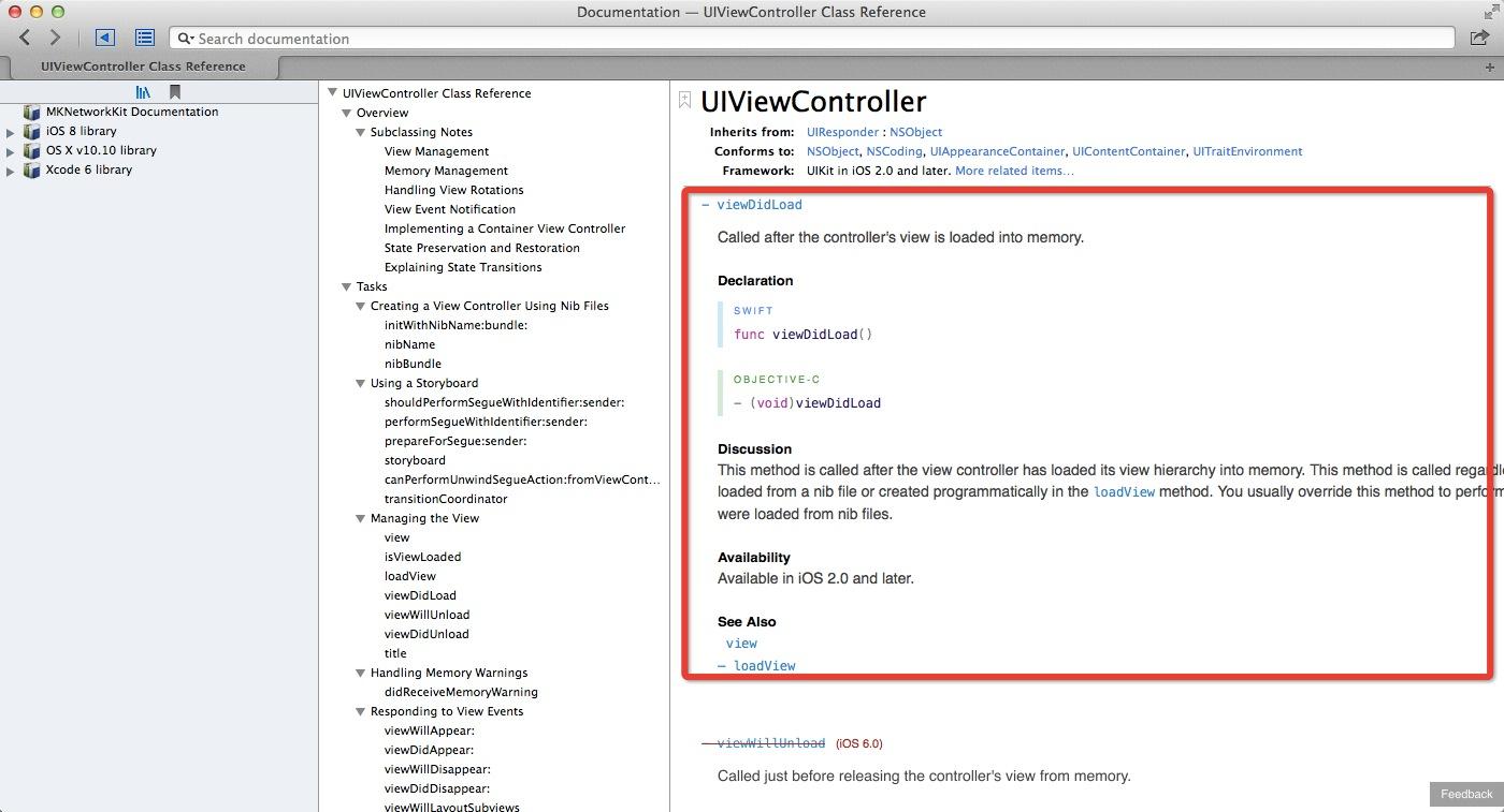 UIView文档中的Swift部分